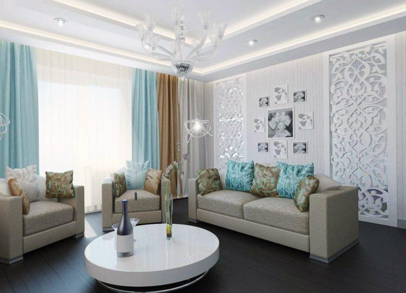 дизайн и декор в гостиной