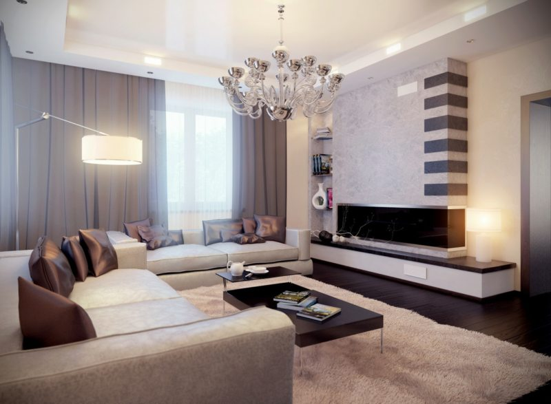 декор и освещение гостиной