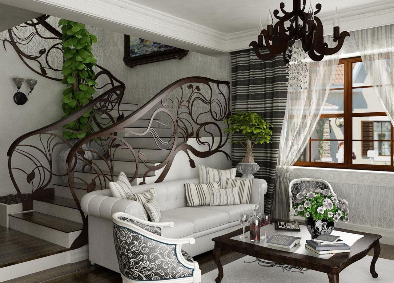 декор интерьера гостиной модерн