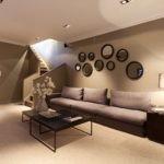 декор стен в гостиной фото дизайн