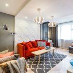 декор стен в гостиной идеи дизайн