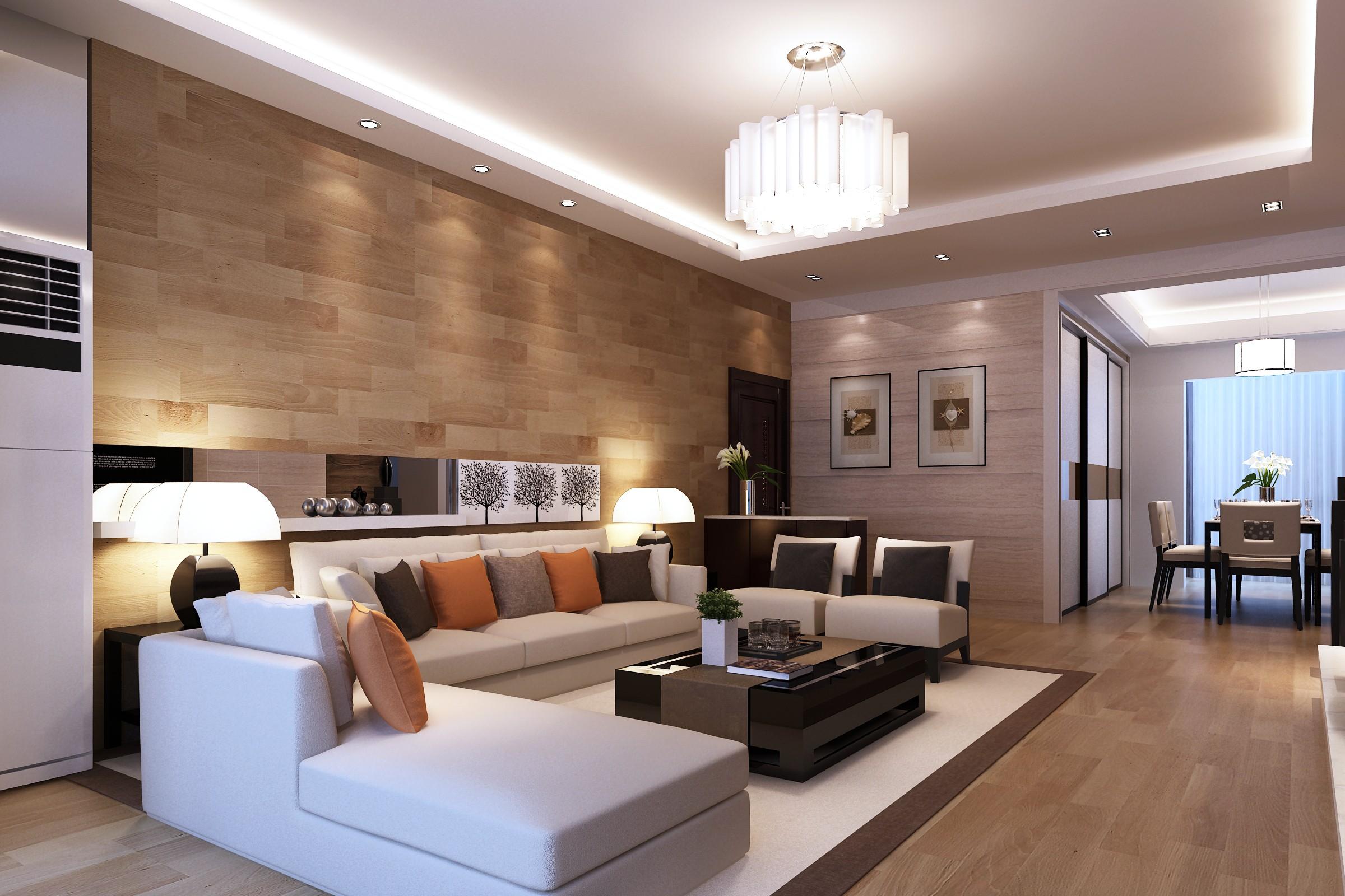 большая гостиная в стиле модерн