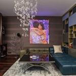 декор стен в гостиной фото интерьера