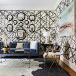декор стен в гостиной интерьер идеи