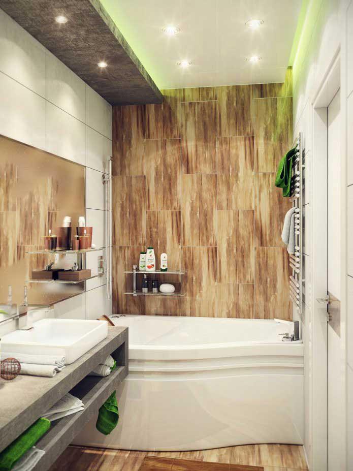 дизайн ванной 4 метра