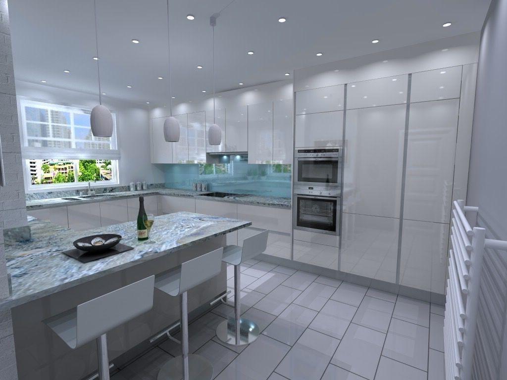 освещение в большой кухне
