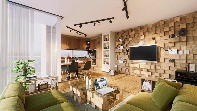 дизайн и декор просторной гостиной