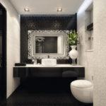 Дизайн ванной комнаты с резным орнаментом
