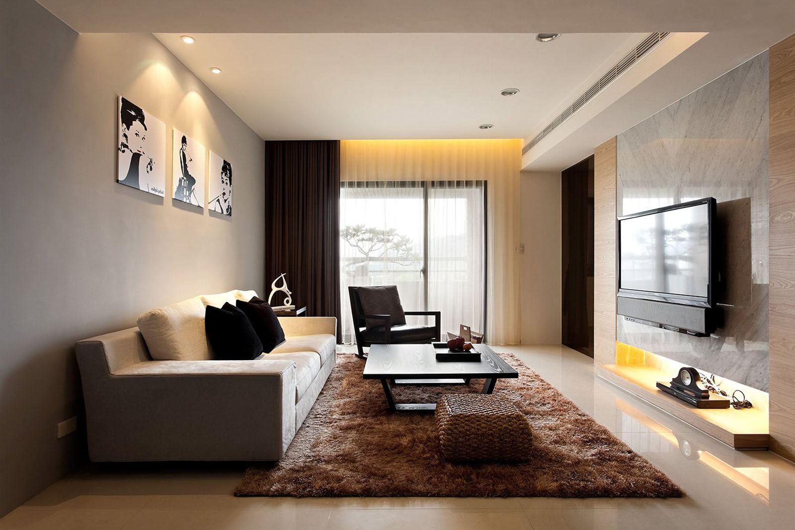 декор модерн в интерьере гостиной