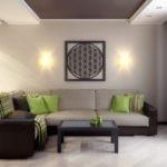 оформление и декор гостиной варианты фото