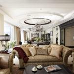 оформление и декор гостиной варианты идеи