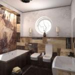 архитектура и дизайн ванной комнаты