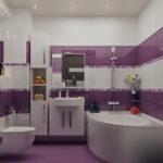 дизайн ванной совмещенной с туалетом в панельном доме