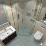 дизайн ванной совмещенной с туалетом со стиральной машиной