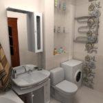 ванная комната 5 кв м интерьер