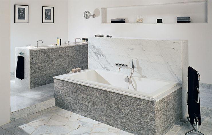 Белая ванная комната гранит