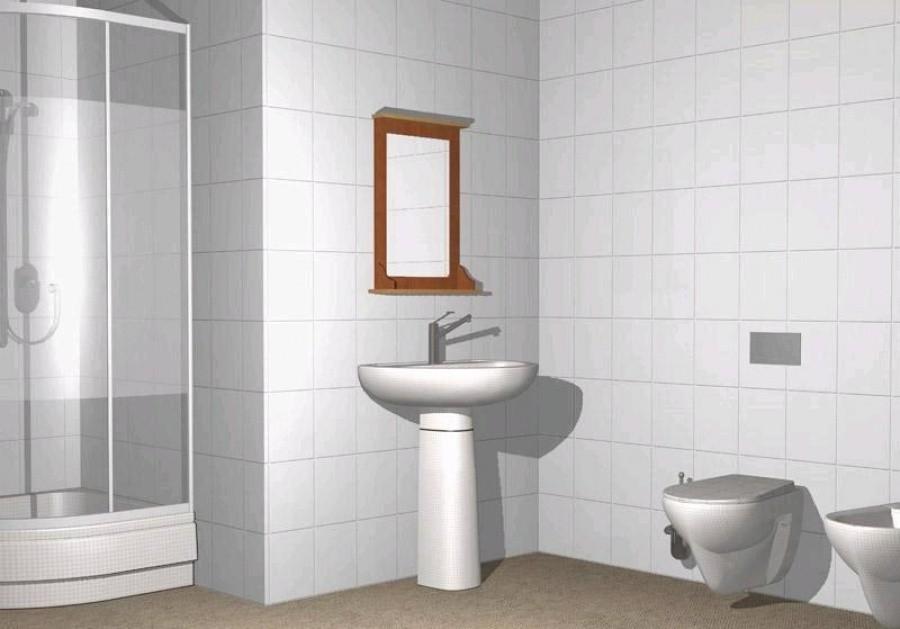 Белая ванная комната керамическая плитка