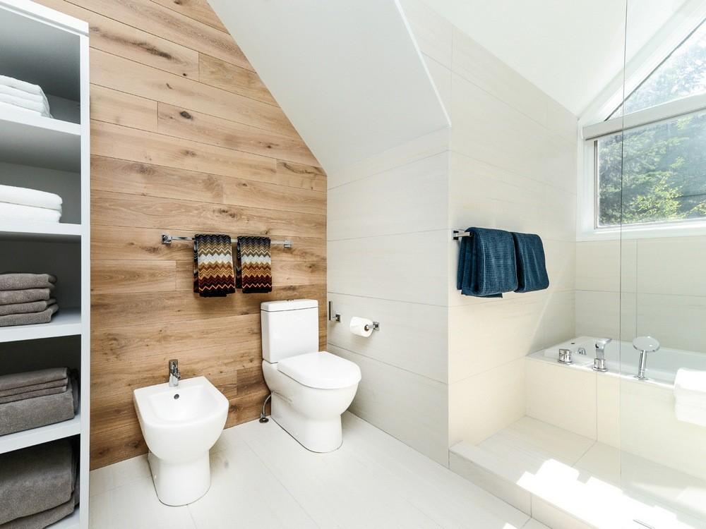 Белая ванная комната скандинавский стиль