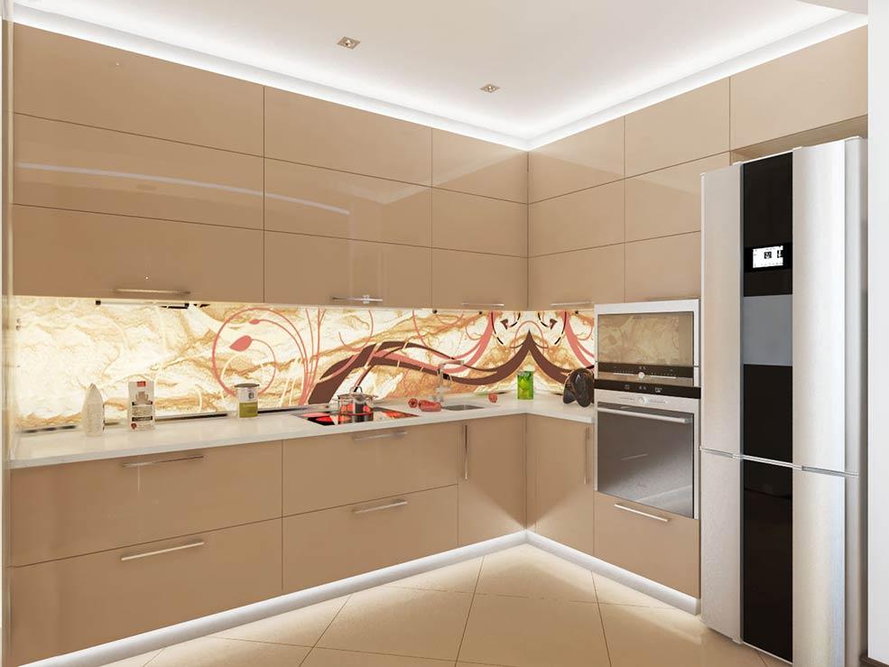 Бежевая кухня правила дизайна