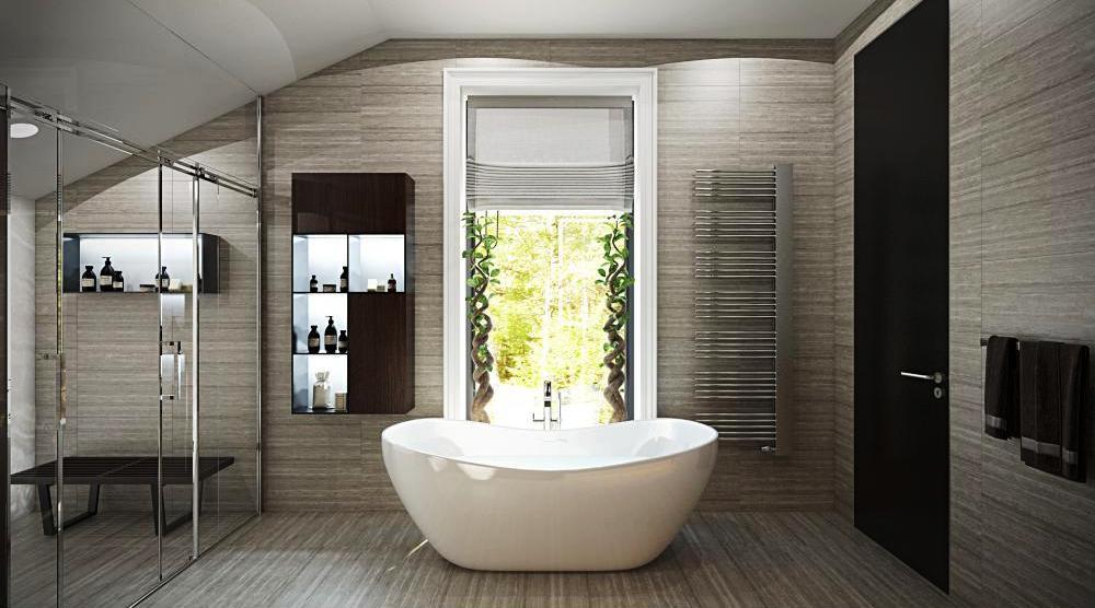 Большая ванная комната гармония
