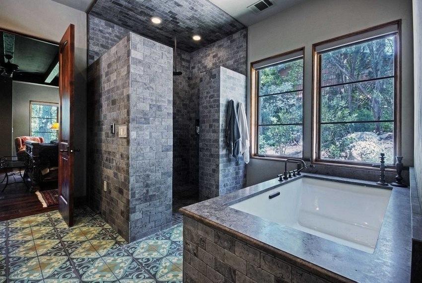 Большая ванная комната керамическая плитка