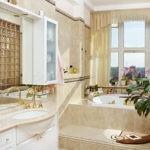 Большая ванная комната купель на подиуме