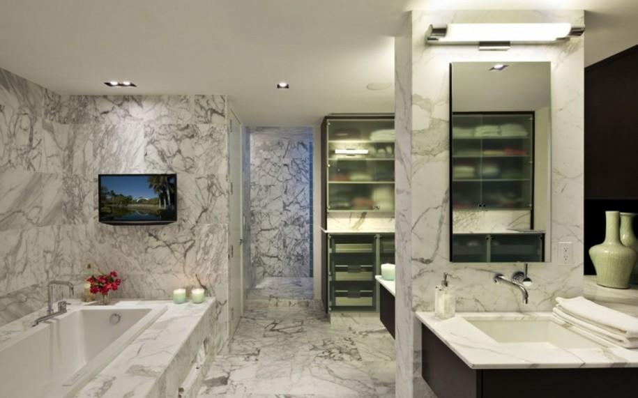 Большая ванная комната мрамор дорогое удовольствие