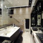 Большая ванная комната натяжной потолок