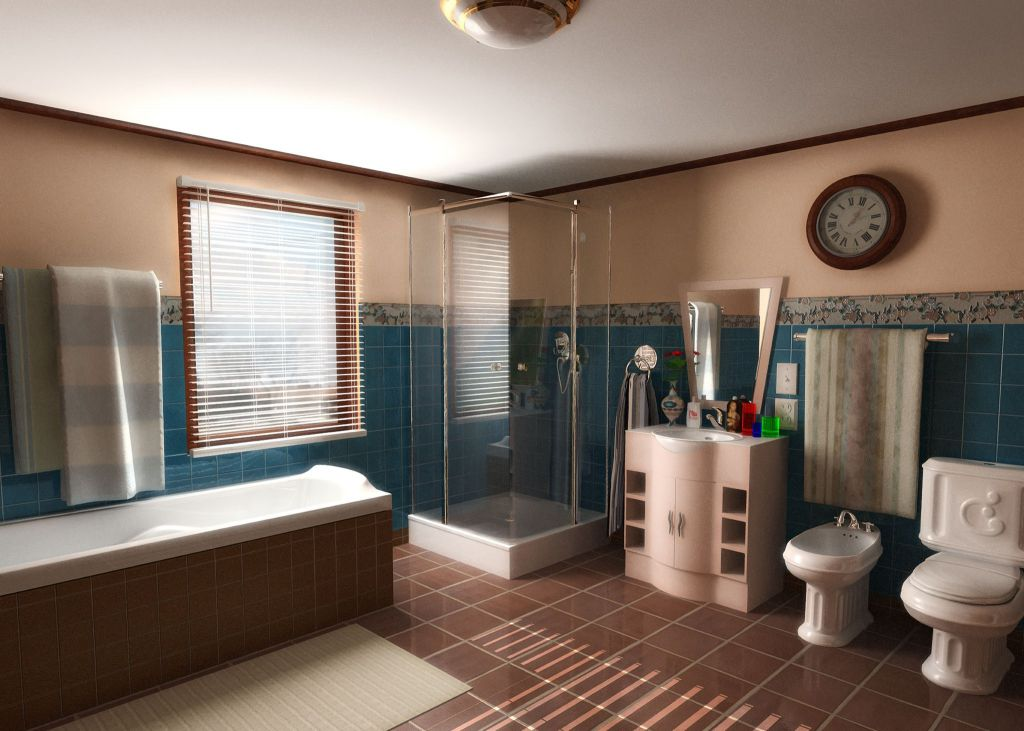 Большая ванная комната проектирование