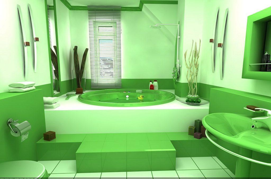 Большая ванная комната веселенькой расцветки