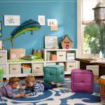Декор детской комнаты большие мягкие кубики узор на полу