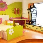 Декор детской комнаты цветочный стиль