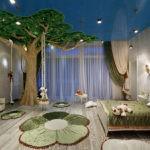 Декор детской комнаты дерево с качелями