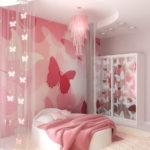 Декор детской комнаты фотообои с махаонами