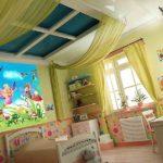 Декор детской комнаты окно на потолке
