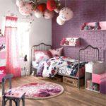 Декор детской комнаты оригинальные светильники цветочный рисунок бязи