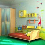 Декор детской комнаты роспись на стене