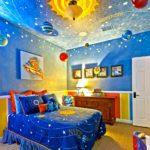 Декор детской комнаты с космическим сюжетом