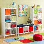 Декор детской комнаты с ярко-красными акцентами