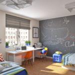 Декор детской комнаты стена с моющейся основой