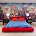 Декор спальни фреска в стиле модерн