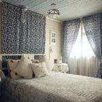 Декор спальни кантри тесктиль бязь ситец