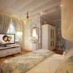 Декор спальни прованс с васильками