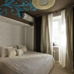 Декор спальни роспись стен ниша с подсветкой