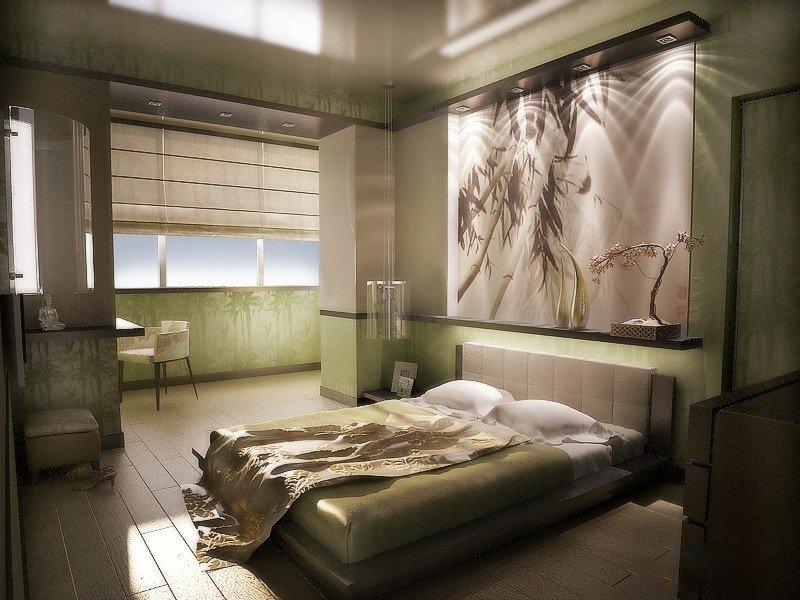 Декор спальни шелкографические обои