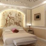 Декор спальни стиль ампир ниша с барельефом