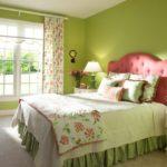 Декор спальни стиль салатовый колорит и цветочные мотивы