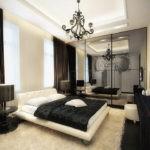 Декор спальни в черно-белых тонах