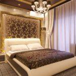 Декор спальни золото в шоколаде