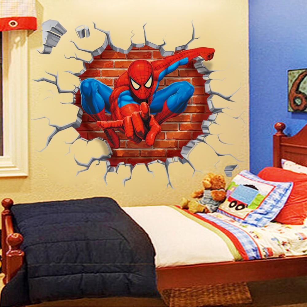 Декор в детской комнате 3d стикеры